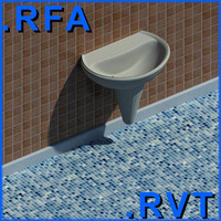 Revit plumbing fixtures sink 02 2D&3D