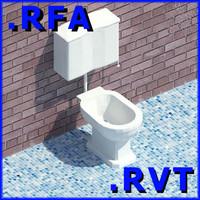 3d revit plumbing fixtures closet