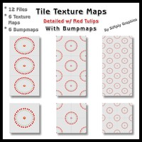 Tile Texture Maps - w/ Tulip Accents