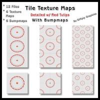 Tile Texture Maps - w/ Tulip Accents