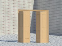 Four Panel Bifold Opens For Renderings