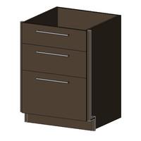 Base Cabinet, 3 Drawers