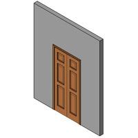 Wood Bifold Door, Single