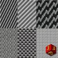 Carbon fiber 6 texture collections.