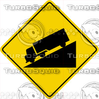 Caution Hill Truck Sign
