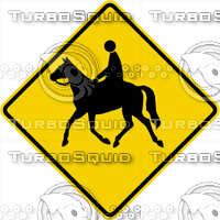 Caution Horse Sign