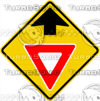 Caution Yield Ahead Sign