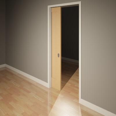 Building rfa door pocket single for Puertas corredizas revit