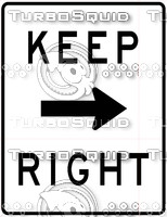 Keep Right Sign 2