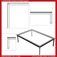 LC10-P Low Table 120x80 Multi-View Block