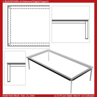 LC10-P Low Table 140x70 Multi-View Block