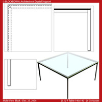 LC10-P Table 140x140 Multi-View Block