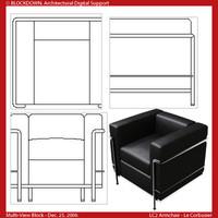 LC2 Armchair Multi-View Block