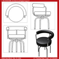 LC7 Turning Chair 5 Legs Multi-View Block