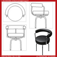 LC7 Turning Chair Multi-View Block