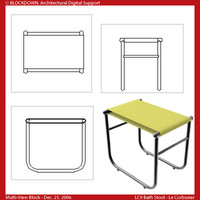 LC9 Bath Stool Multi-View Block
