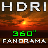 HDRI Panorama - Orange Cloudwarps