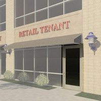 Curtain Wall Storefront Door - Single