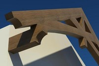Timber Scissor Truss - Wall Mount - Radius