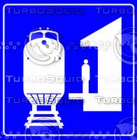 Train Symbol Sign