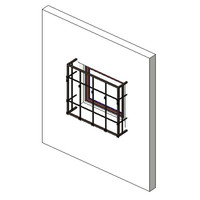 Window, FX, SGL, Stucco Moulding-5 Bar Cage
