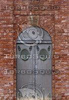 Brick arch and door texture