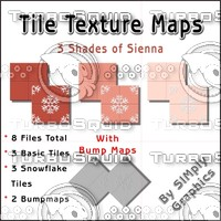 Tile Texture Maps - 3 Shades of Sienna