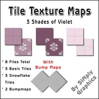 Tile Texture Maps - 3 Shades of Violet