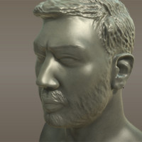 3ds max mans head beard