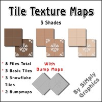Tile Texture Maps - 3 Shades of Chocolate