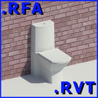 3d model revit plumbing fixtures closet