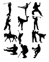 Sport figure silhouettes