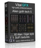 60 Alien Goth Tech 5 ( Giger style )