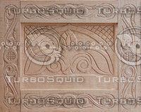 Carved Wood Panel Texture