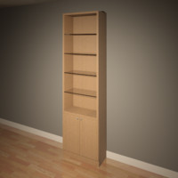 Shelving with Base Cabinet