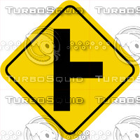 Caution Intersection Right Sign