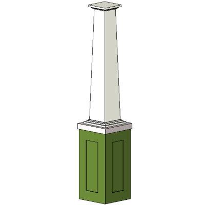 Building rfa column Craftsman tapered columns