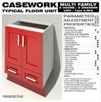 Floor Unit (2 Doors - 2 Drawers - Type A)