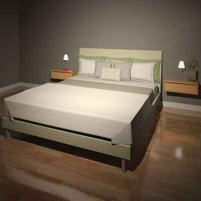 Furniture Bed Room & Board Ella_Render01.png