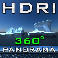 HDRI Panorama - Icebergs