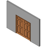Wood Sliding pocket Door, Double