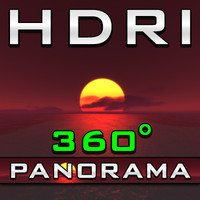 HDRI Panorama - Red Sunset