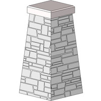 Stone Col-w-Chamfered Cap