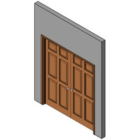 Wood Prehung Swing Door, Double