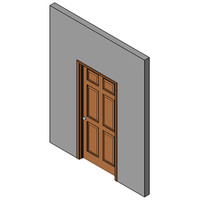 Wood Prehung Swing Door, Single