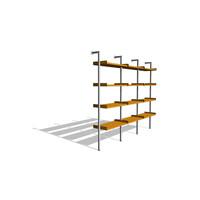 Treku Bookcase - Triple Unit