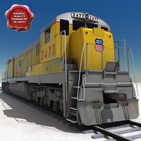 realistic union pacific locomotive 3d max
