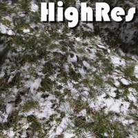 HighRes snow and grass