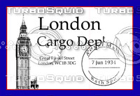 Vintage Luggage Stickers - London