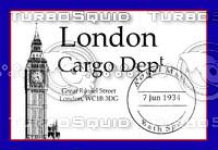 Vintage Luggage Stickers - London